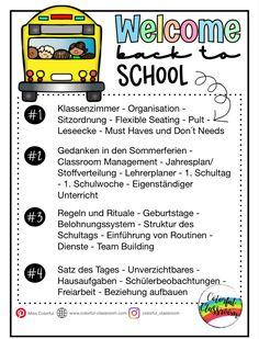 Einblicke in meinen Start in den Schulalltag Welcome Back To School, Toy Craft, School Classroom, Kids Toys, Colorful, Photo And Video, Instagram, School Week, Reward System