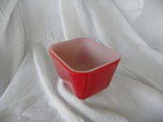 Red PYREX 6oz Rectangular Cubelike by HeidisWorldHobbies on Etsy, $7.97