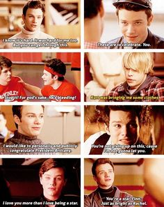 And this is one of the reasons I love Kurt and that he is my fav character on glee   love you Chris colfer/ Kurt