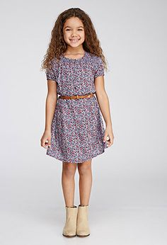 Belted Ditsy Floral Dress (Kids) | Forever 21 girls | #f21kids