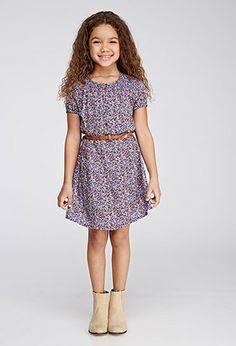 Belted Ditsy Floral Dress (Kids) | Forever 21 girls | #f21kids