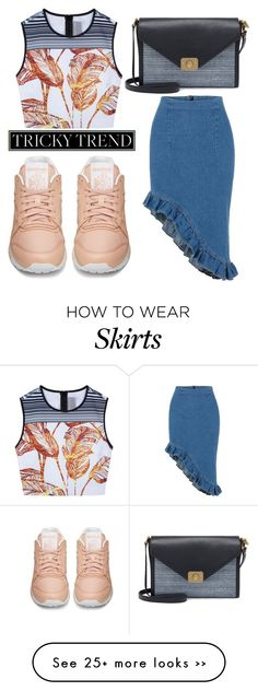 """Tricky Trend: Pencil Skirts and Sneakers"" by fiirework on Polyvore featuring Reebok, Clover Canyon and Mulberry"