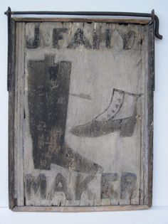 19Th C Wooden Trade sign