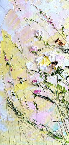 Small Paintings on Canvas Art for Nursery Abstract Flower Painting Palette Knife Art Oil Painting Roses Oil Painting Landscape Beautiful Hello. This work is painted in oils on canvas with stretcher. Authors painting. Relief, volume, textured painting. See enlarged details on the #OilPaintingKnife