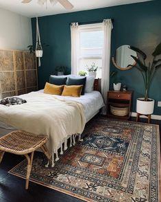 Green Rooms, Bedroom Green, Room Ideas Bedroom, Home Decor Bedroom, Emerald Bedroom, Diy Bedroom, Bedroom Colors, My New Room, Home Decor Inspiration
