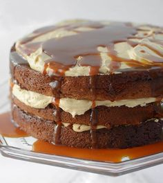 Caramel Banana Cake [from Faith at TheKitchn] Homemade caramel sauce is swirled throughout this cake, so it walks the edge between a cake and an old-fashioned English pudding, absolutely silky with banana and gooey streaks of caramel that create strata of even moister cake layered with that burnt, brown sugary richness.@Whitney Clark Hunt @Vance Landis-Carey Seaton