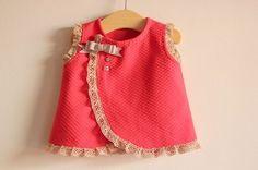 Agulha de ouro Ateliê: ✂Molde gratuito de vestidinho de bebê de 1 mês até 18 meses (1 ano e meio)✂