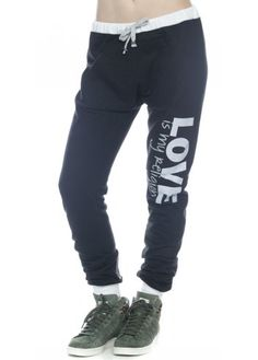 Peace Love World Love Is My Religion Ll Black Kanga Pant
