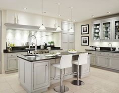 light gray cabinets, black counters and white floor cabinets are too light? light gray cabinets, black counters and white floor cabinets are too light? Kitchen Black Counter, Black Granite Kitchen, Black Granite Countertops, Grey Kitchen Cabinets, Kitchen Flooring, Kitchen Countertops, New Kitchen, Kitchen Grey, Granite Sinks