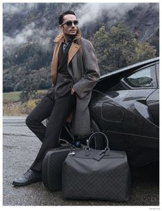 Andre Costa Ventures Outdoors in Louis Vuitton for GQ Russia image Andre Costa GQ Russia December 2014 Louis Vuitton Feature 006