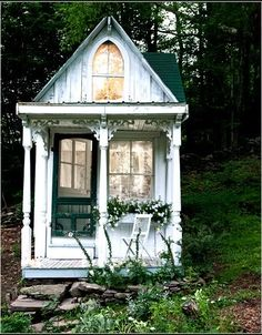 """Victorian Cottage, Delhi, NY, U.S.A. """"Sandra Foster turned a Catskills hunting cabin into the romantic Victorian cottage she had always wanted."""""""
