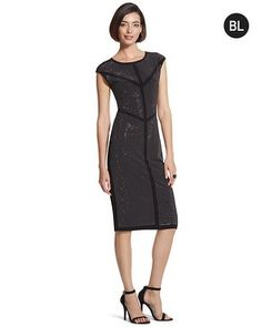 Chevron rows on fluid fabric call out this gem of a dress. #chicossweeps