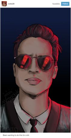 """Why is Brendon Urie wearing glasses in the dark?"" #PanicAtTheDisco art by @notes28 #FanArtFriday"