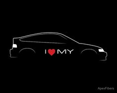 Millions of unique designs by independent artists. Find your thing. Honda Civic, Honda Crx, Royal Logo, Car Silhouette, Automotive Design, Sell Your Art, Finding Yourself, Neon Signs, Heart