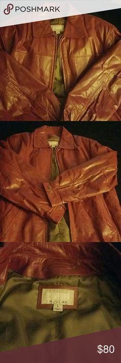 Men Wilson geniune leather jacket Men leather jacket,  never worn . impulse shopping...Rust color. FLAWLESS! Absolutely smooth color. Wilsons Leather Jackets & Coats
