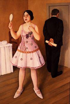 La canzonettista - Antonio Donghi (1925)