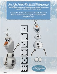 Do You Wanna Build A Snowman? Game: Starring #Olaf from #Disney s #Frozen!