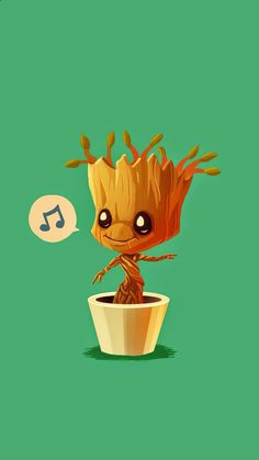 Baby Groot humming - Guardians of the Galaxy iPhone wallpaper mobile9
