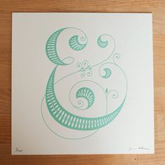 Ampersand letterpress. Jessica Hische letterpress art via ohsobeautifulpaper