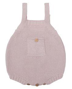 Ranita rosa de punto de arroz, de algodón 100%. Para bebés y recién nacidos. #ranita #rosa #modainfantil #algodon #bebe #baby