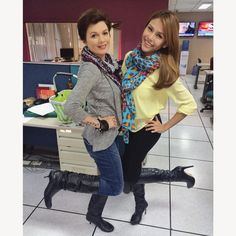 My forever #twinnie in the newsroom!  Before it was our animalistic get up, now it's our boots & scarves ☔️ #RainyFriday #TGIF @ancalerts #ANC