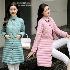 3d02688b928f8 Winter Plus Size Down Coat Women Parkas Female Long Duck Down Padded Jacket  Hit Color High Quality Women s Clothing  downcoats  downjackets  Outfit…