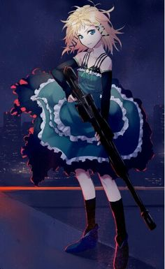 I love Tina from black bullet because number one she's freaking KAWAII! and second she uses a sniper rifle :) Black Bullet, Manga Anime, Manga Art, Anime Art, Girls Characters, Anime Characters, Me Me Me Anime, Anime Love, Vocaloid