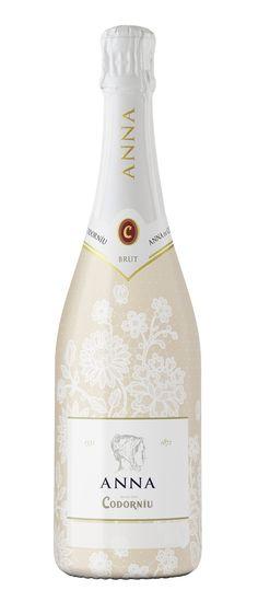 Cava Anna de Codorníu - botella 'boda' personalizable. Amigos de las bodegas.