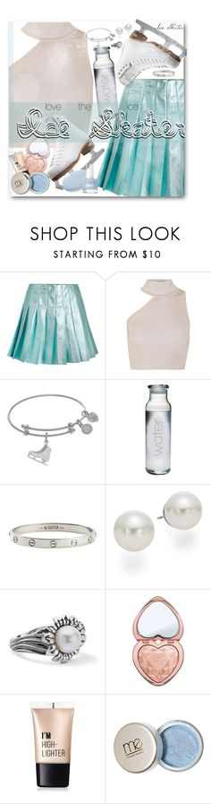 """""""Ice Skating"""" by clairabel16 ❤ liked on Polyvore featuring Miu Miu, Cushnie Et Ochs, Riedell, Cartier, AK Anne Klein, Too Faced Cosmetics and Charlotte Russe"""
