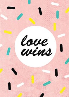 Love Wins Archival Art Print by lovelysweetwilliam on Etsy