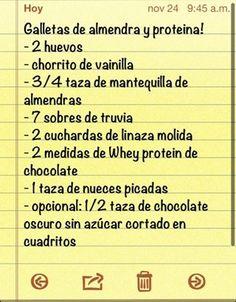 Galletas de almendra y proteina