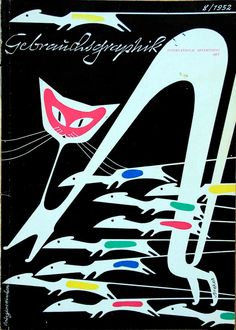 """Gebrauchsgraphik – International Advertising Art"", August 1952, Artist: Breker"