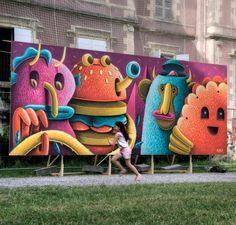 #Mural by Nicolas Barrome for Happy Days