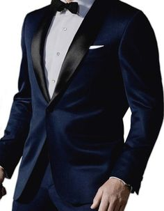 Look like Daniel Craig, in this gorgeous navy shawl lapel tuxedo with matching pants. #PromTuxedo #Tuxedo #NavyTuxedo #WeddingTuxedo #PromTux #WeddingTux #Tux #Wedding #Prom
