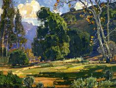 """Trees, They Are My Friends"", William Wendt, 1931, Oil on Canvas, Bowers Museum"