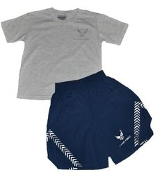 Trooper Clothing Kids US Air Force Pt Short Set - 2 Pc Large Black. 3m reflective screen printed logos. Officially licensed United States Air Force product. Large size 12-14.