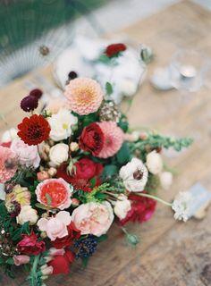 Bold Colors | Magnolia Rouge + Jen Huang + Fleuriste on Grey Likes New Zealand Auckland Wedding Garden Inspiration
