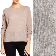 360 Cashmere Sweater Dolman Boxy Cropped High Low Hi Lo Lu 100% Oatmeal  Beige XS 8a65212e6
