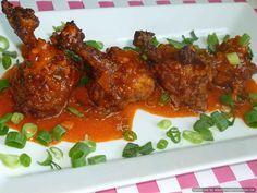 Chicken lollipops with orange flavoured sauce