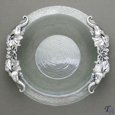 Arthur Court Designs Elephant Glass Salad Bowl