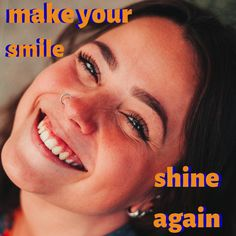 Smile not as bright as it used to be? Teeth whitening could be the solution. Schedule that appointment today! Healthy Teeth, Teeth Whitening, Schedule, Smile, Bright, Tooth Bleaching, Timeline, Dental Health, Laughing