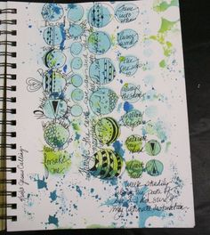 Diane Marra art journal page http://dianemarra.typepad.com/adore_him/2013/05/think-3.html #circles