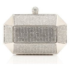 Forever New Glam Geo Hardcase Clutch featuring polyvore fashion bags handbags clutches purses bags / clutches silver chain strap handbag hard clutch white box clutch chain strap purse clasp purse