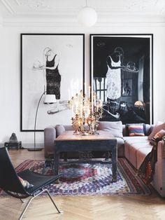 Hay sofa, Kvium malerier, Rosmosegaard bord