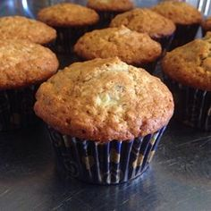 Banana Oat Muffins - used maple sugar instead of white. Baked at 375 for 20 using convection. Added cinnamon and used a little less flour and more oats Banana Oatmeal Muffins, Banana Oats, Banana Bread, Bran Muffins, Mini Muffins, Bread Recipes, Muffin Recipes, Breakfast Recipes, Cooking Recipes