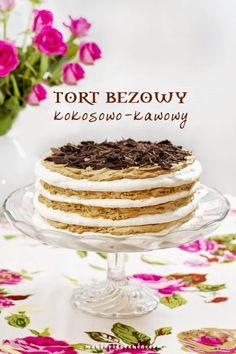 tort, tort bezowy, beza, tort kawowy, kokosowa beza, meringue, meringue layer cake, coffee cream, layer cake, walentynki, valentine's day