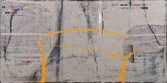 enrique brinkmann. un dibujo amarillo. mixed media on wire mesh, 2011