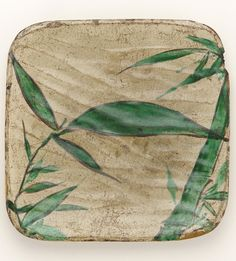 Square dish with bamboo grass design.  late 18th to early 19th century, Kyoto, Japan, by artist Ogata Kenzan.  Gift of Charles Lang Freer . Freer Gallery of Art and Arthur M. Sackler Gallery