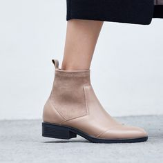 Chiko Darrel Sock Ankle Boots feature round toe, pull on sock upper, block heels with rubber sole. Sock Ankle Boots, Shoe Boots, Fashion Designer, Designer Shoes, Fashion Shoes, Fashion Edgy, Womens Fashion, Edgy Shoes, Beige Boots