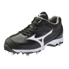 Womens Mizuno Sweep Softball Cleats Black Leather - ONLY $99.99